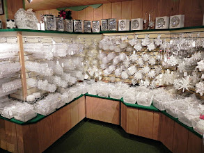 Photo: Bronner's is the world's largest Christmas store.  Here you see just ONE SECTION of their nearly endless snowflake ornament options!