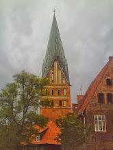 Photo: Johanniskirchturm vom Vorplatz des Wasserturms aus.