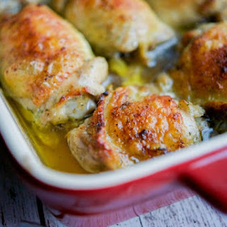 Crispy Ranch Baked Chicken Thighs.