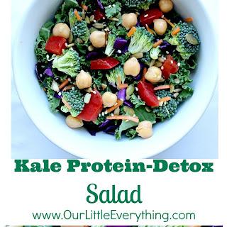 Kale Protein Detox Salad (Vegetarian, Vegan)