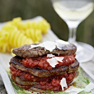 Beef and Tomato Stacks.