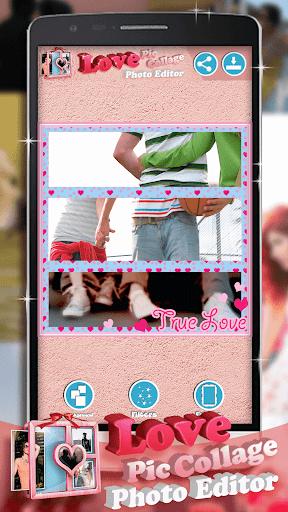 可愛的照片拼貼和相框