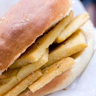 Fried Panelle Sandwich