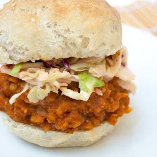 BBQ Lentil Sandwich with Sriracha Coleslaw Recipe