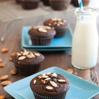 Double Chocolate Almond Muffins.