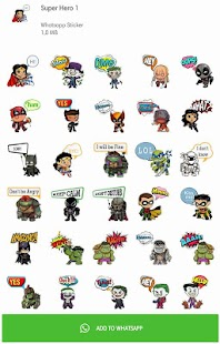Super Hero Stickers for WAStickerApps Screenshot