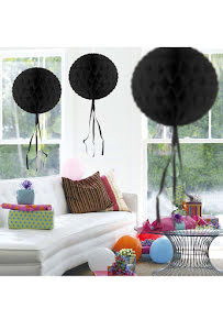 Dekorationsboll, svart 30 cm