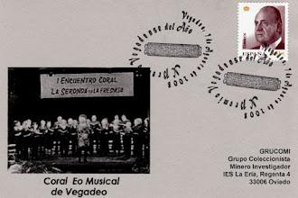 Photo: Matasellos de la Coral Eo Musical de Vegadeo
