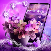 Shiny Purple Flower Theme