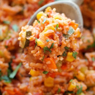 One Pot Mexican Rice Casserole.
