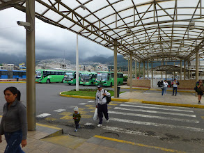 Photo: The Ofelia bus terminal in the North of Quito