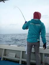 """Photo: まずは、釣り大好きの""""タケダさん""""! ふだんは、ショアでエギング、ロックフィッシュ・・・やってらっしゃるみたいで。今回初船釣りです!"""