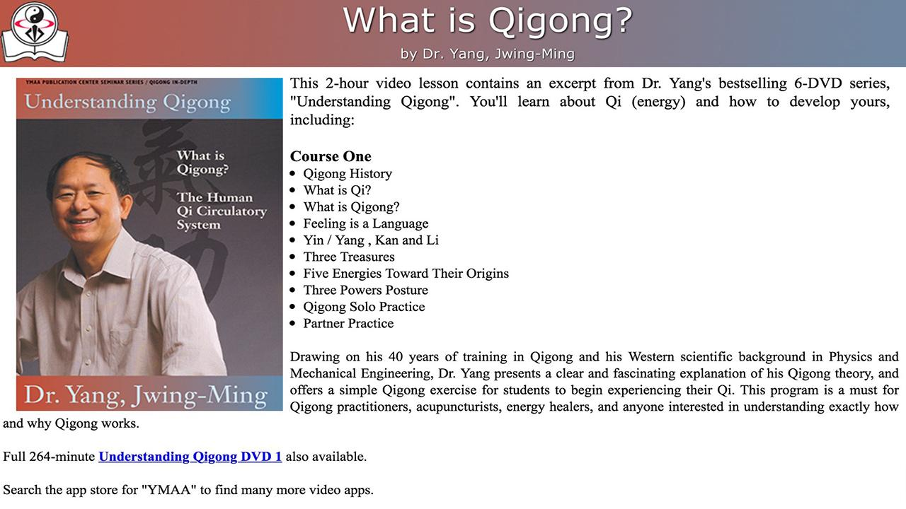 Understanding Qigong Video- screenshot