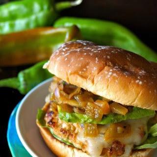 Hatch Chile Pineapple Salsa Turkey Burger