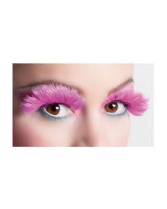 Lösögonfransar, rosa fjädrar