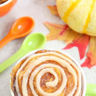 Pumpkin Cinnamon Roll Mug Cake
