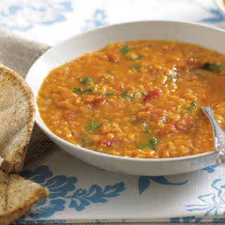 Spicy Tomato and Red Lentil Soup.