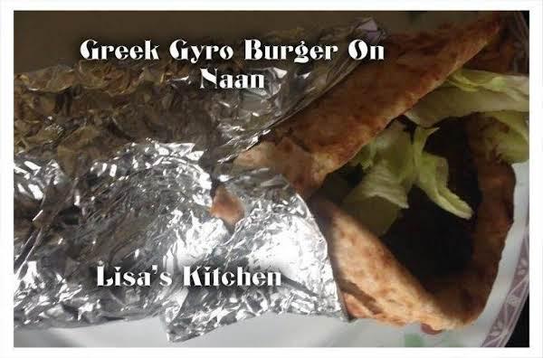 Greek Gyro Burger On Naan