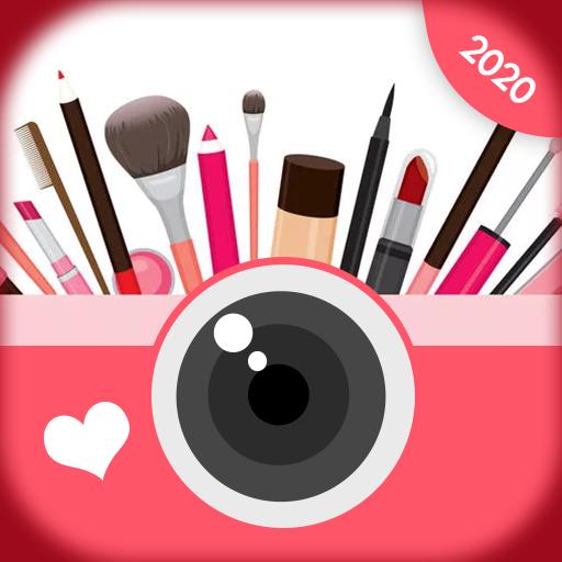 rosto beleza maquiagem câmera- editor de fotos