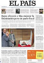 Photo: Rajoy ofrecerá a Mas mejorar la financiación pero sin pacto fiscal, la clase política y miles de ciudadanos homenajean a Carrillo y Guindos aspira a utilizar el rescate bancario para no pedir más dinero, en nuestra portada del jueves 20 de septiembre http://srv00.epimg.net/pdf/elpais/1aPagina/2012/09/ep-20120920.pdf