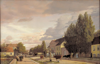 Photo: Christen Koebke (1810-1848), Parti af Oesterbro i morgenbelysning, 1836