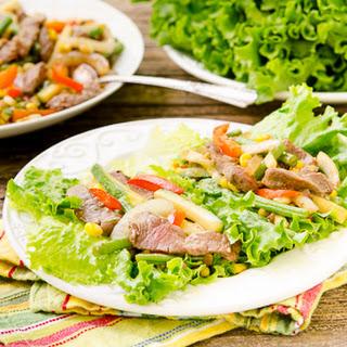 Garden Vegetable Steak Lettuce Wraps