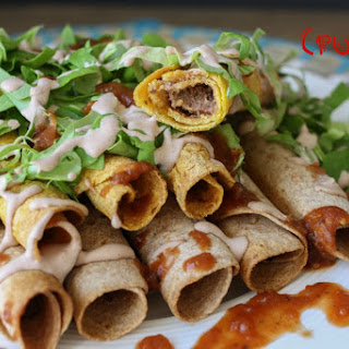 Southwest Smoky Rolled Tacos [Vegan, Gluten-Free]