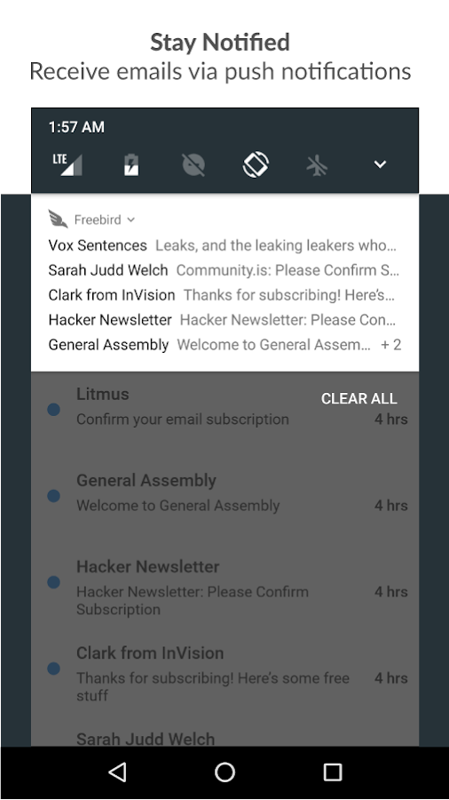 Freebird - Disposable Temporary Email- screenshot