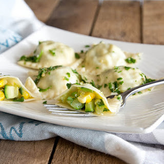 Zucchini and Corn Ravioli
