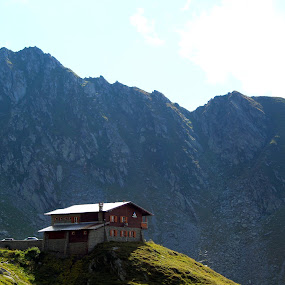 Lost in mountains by Alexandru Lupulescu - Landscapes Mountains & Hills ( mountains, hills, transfagarasan, romania, house )