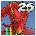Coloring Book 25: Dragon icon