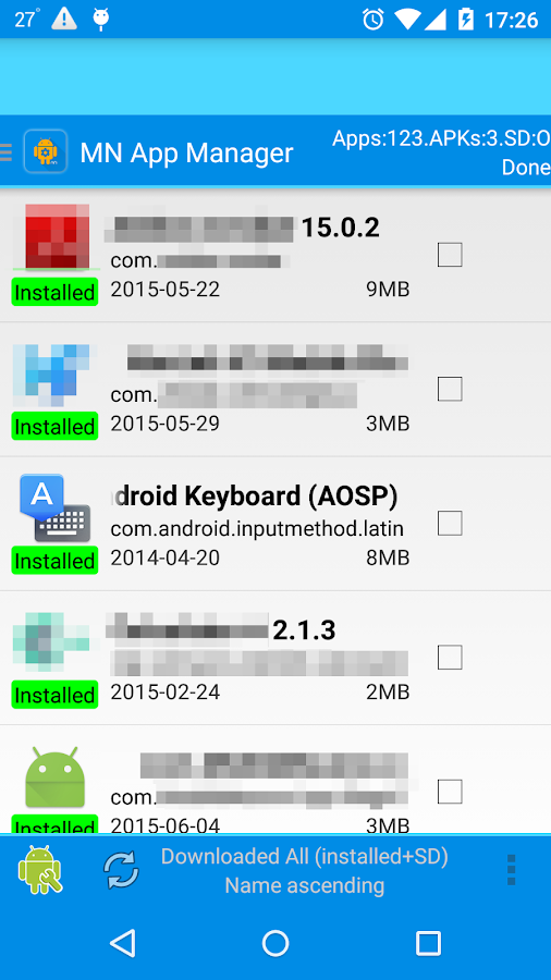 App Manager-copy/backup/send- screenshot