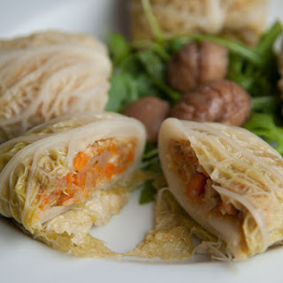Vegetarian Stuffed Cabbage With Chestnuts, Parsnips And Carrots