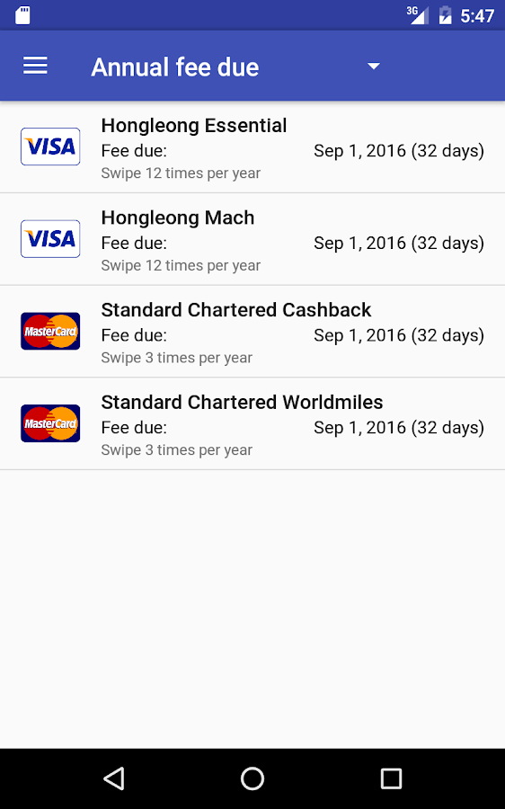 Credit Card Manager- screenshot