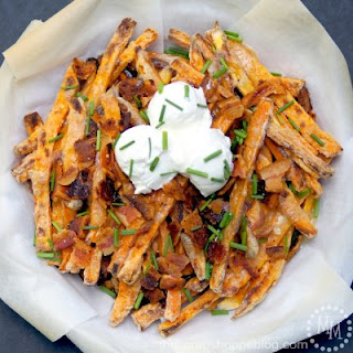 Baked Sweet Potato Brie Fries