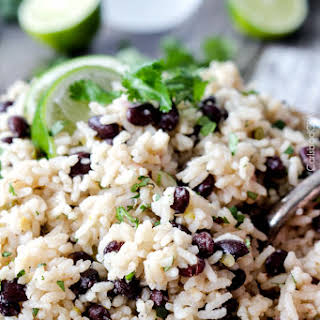 One Pot Cilantro Lime Rice (with Black Beans).
