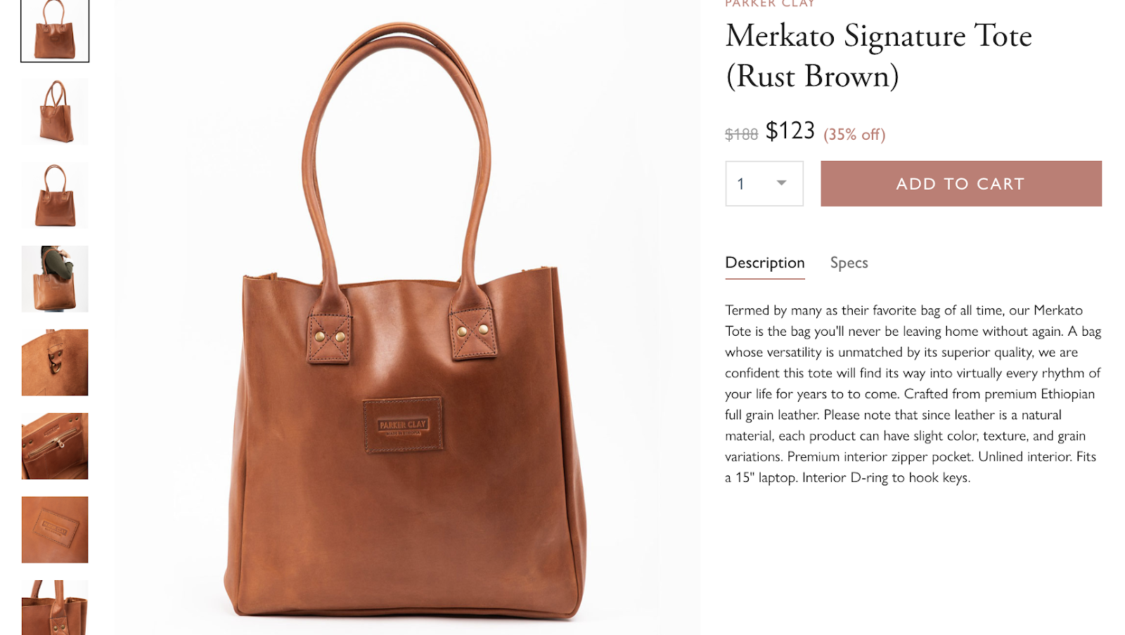Find the merkato signature tote in the causebox market