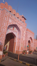 Photo: old city gate in jaipur, the pink city