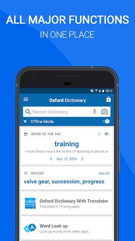 Oxford Dictionary of English : Free Screenshot