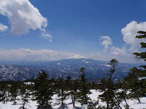 休憩地から木曽御嶽山