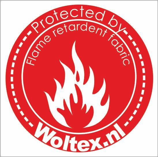 Flame retardant vlamwerend brandwerend Woltex