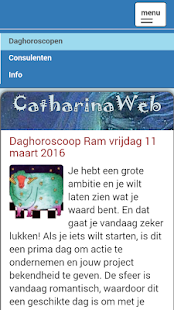 CatharinaWeb daghoroscoop- screenshot thumbnail