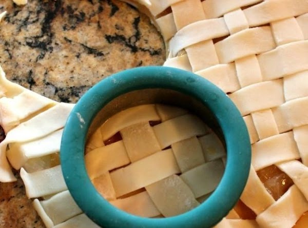 Create a lattice crust (just like on a pie) for the top of the...