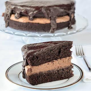 Chocolate Stout Cake with Baileys Truffle & Whiskey Glaze.