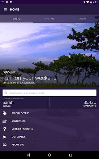 SPG: Starwood Hotels & Resorts  screenshots 10