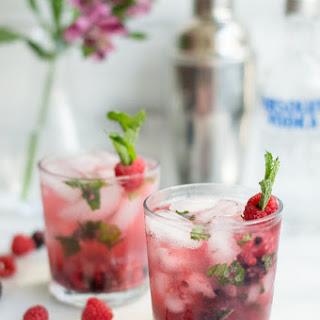 Muddled Berry Mojitos