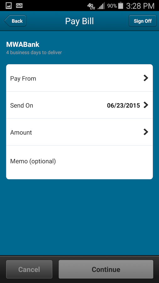 meridian online banking how to cancel a scheduled transfer