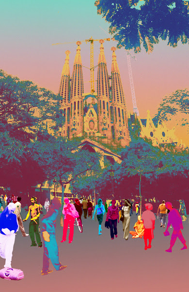 Photo: My subdued version of the Barcelona landmark Sagrada Familia. #gaudi #sagradafamilia #barcelona #colour #hiphop #tourism