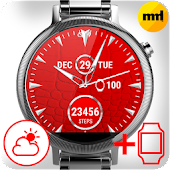 Watch Face Red Art