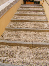 Photo: The several staircases leading up to St. Michael's Church all have this mosaic-like pattern of small stones (typically turned on edge, for longer wear).